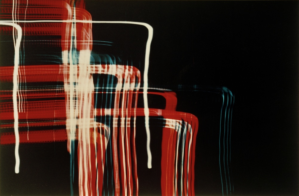 ", László. 1895–1946. ""Ohne Titel (Neon signs, Chicago) "", 1939. Papierabzug vom Glasdia (Exhibition copy), 27,9 × 35,6 cm. Courtesy of the Estate of Lazló Moholy-Nagy and Andrea Rosen Gallery, New York."